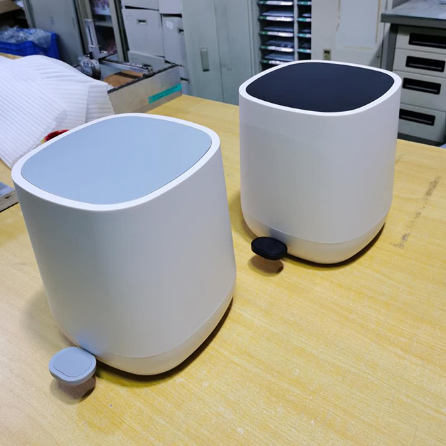 All plastic square trash can